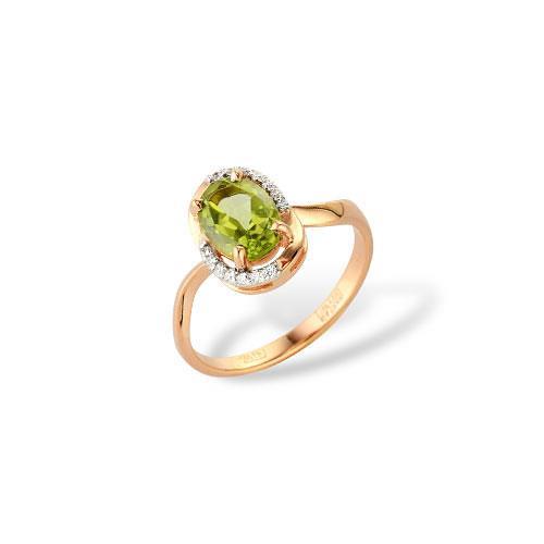 Золотое кольцо Гранат и Фианит арт. 1180560 1180560