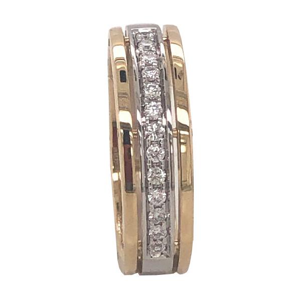 Обручальное кольцо из золота с бриллиантом арт. R0527101-05 R0527101-05