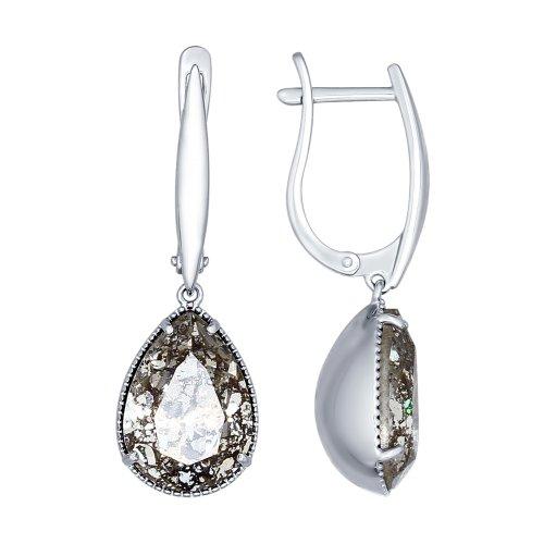 Серебряные серьги с кристаллом сваровски арт. 94022222 94022222
