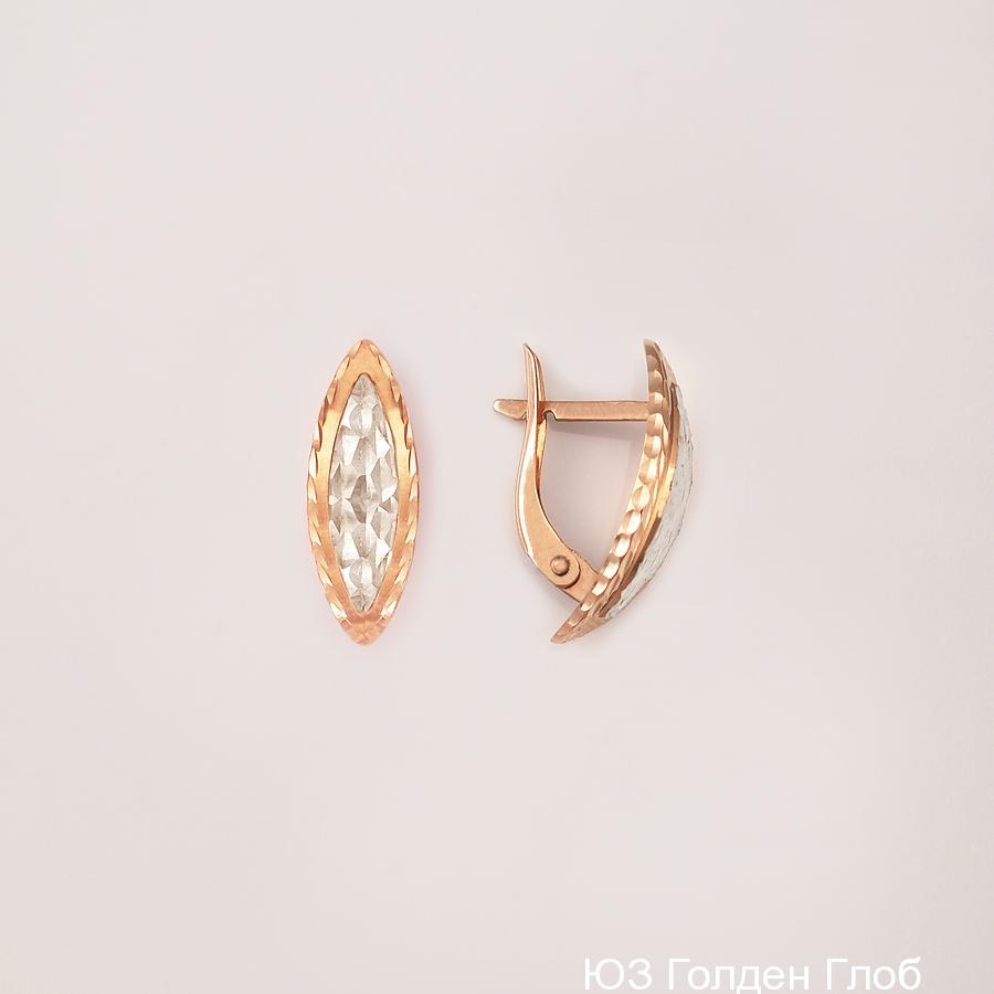 Золотые серьги срг07-03