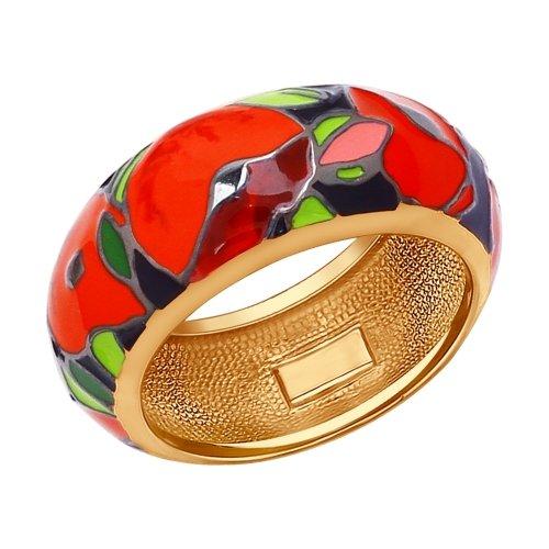Кольцо серебряное с позолотой Эмаль арт. 93010542 93010542