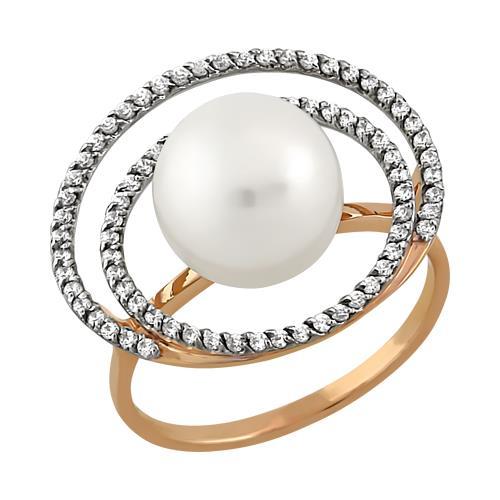 Золотое кольцо Жемчуг и Фианит арт. 11801544 11801544