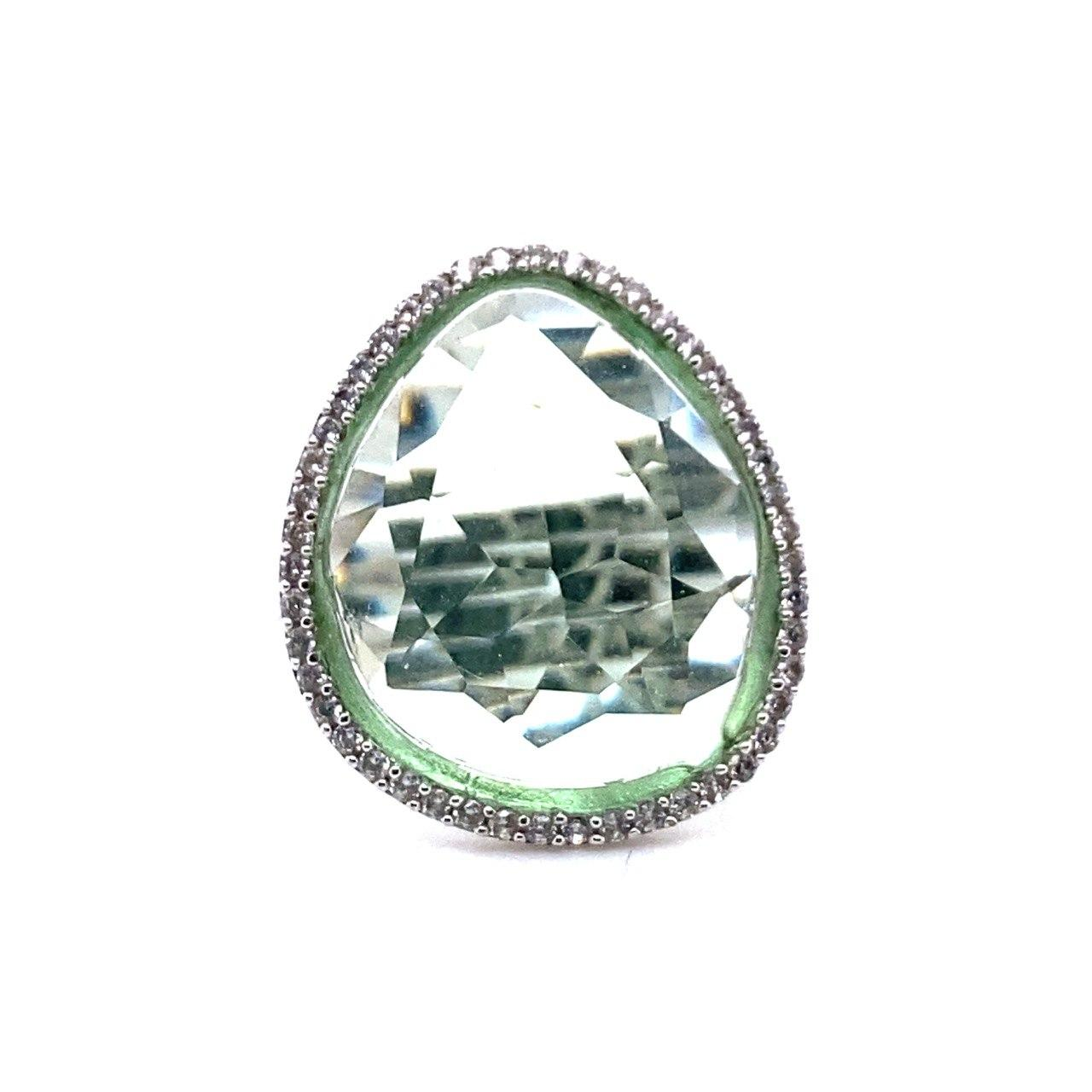 Серебряное кольцо 1r00011