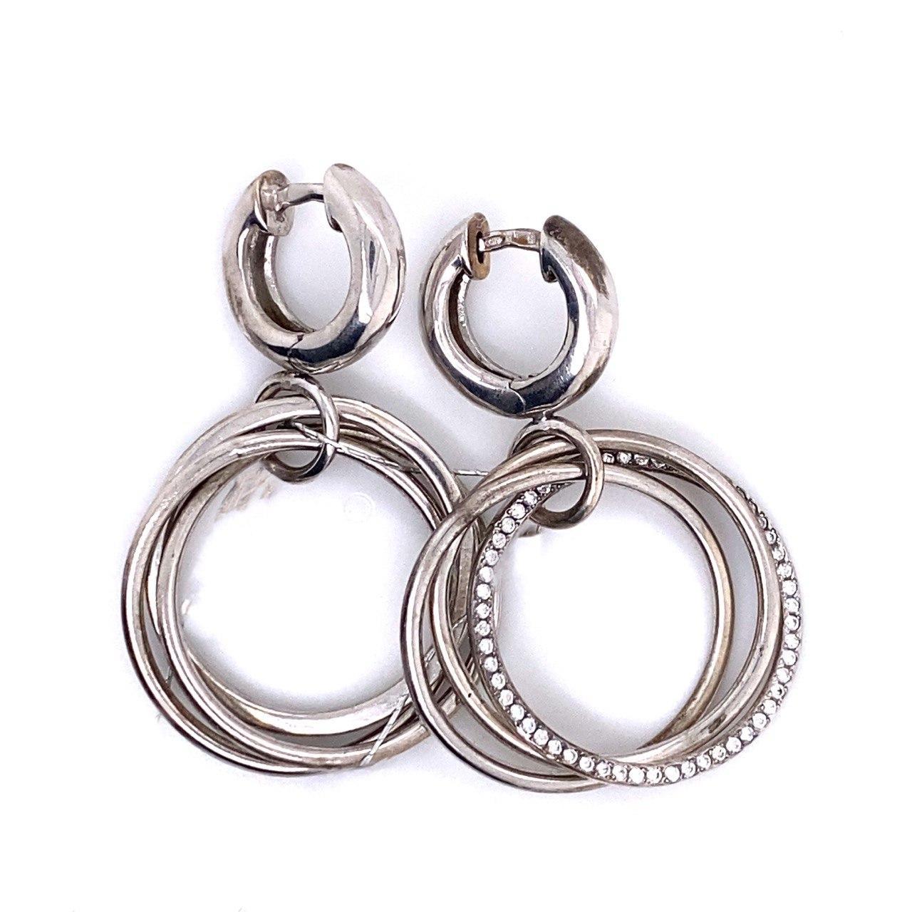 Серебряные серьги с фианитом арт. 02.00948 02.00948