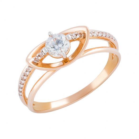 Золотое кольцо Фианит арт. 01-114595 01-114595