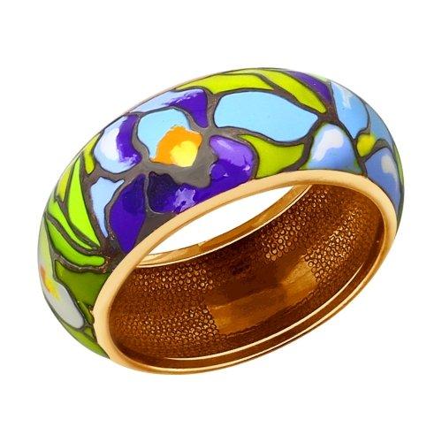 Кольцо серебряное с позолотой Эмаль арт. 93010507 93010507
