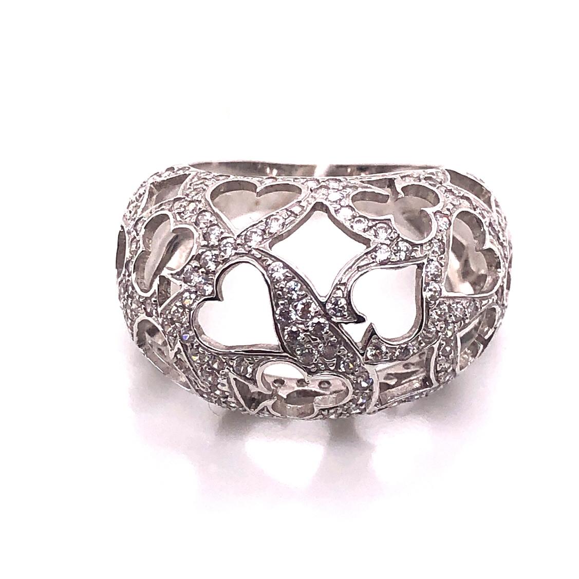 Кольцо из белого золота Фианит арт. к718 к718