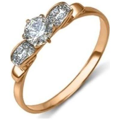Золотое кольцо Кристалл сваровски арт. 01-4934-00-501111038 01-4934-00-501111038