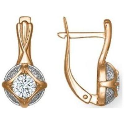 Золотые серьги с кристаллом сваровски арт. 02-3766-00-501111038 02-3766-00-501111038