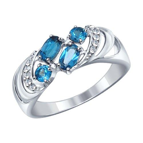 Серебряное кольцо Топаз и Фианит арт. 92011218 92011218