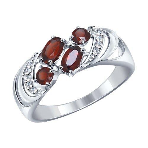 Серебряное кольцо Гранат и Фианит арт. 92011219 92011219