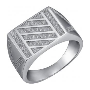 Серебряная печатка с цирконием Фианит арт. sb3r 87 sb3r 87