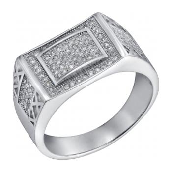 Серебряная печатка с цирконием Фианит арт. sb3r 101 sb3r 101