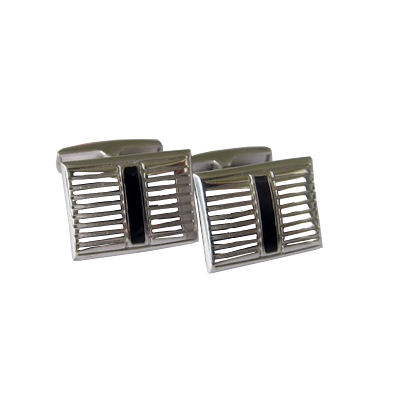Серебряные запонки с эмалью арт. 140026 140026