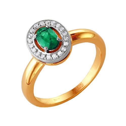Золотое кольцо Бриллиант и Изумруд арт. 54000109 54000109