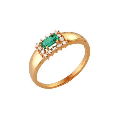 Золотое кольцо Бриллиант и Изумруд арт. 64000152 64000152