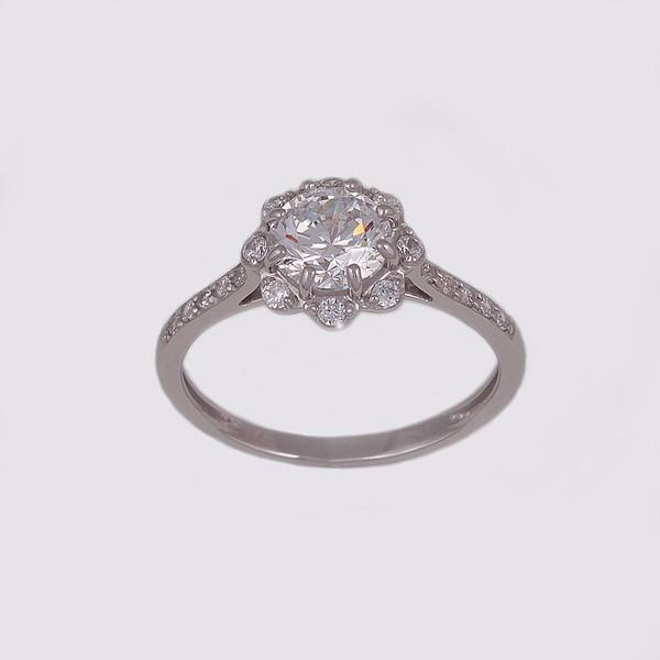 Серебряное кольцо Фианит арт. 14842-р 14842-р