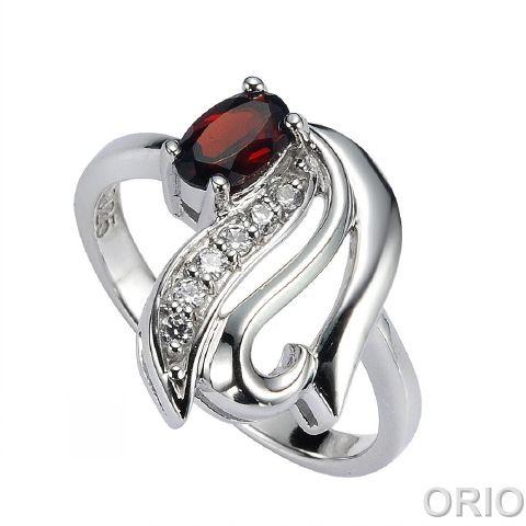 Серебряное кольцо Гранат и Фианит арт. 41100137 41100137
