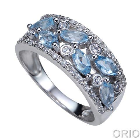 Серебряное кольцо Топаз и Фианит арт. 41100149 41100149