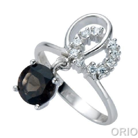 Серебряное кольцо Гранат и Фианит арт. 41100139 41100139