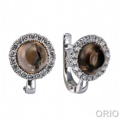 Серебряные серьги с опалом и фианитом арт. 41200144 41200144
