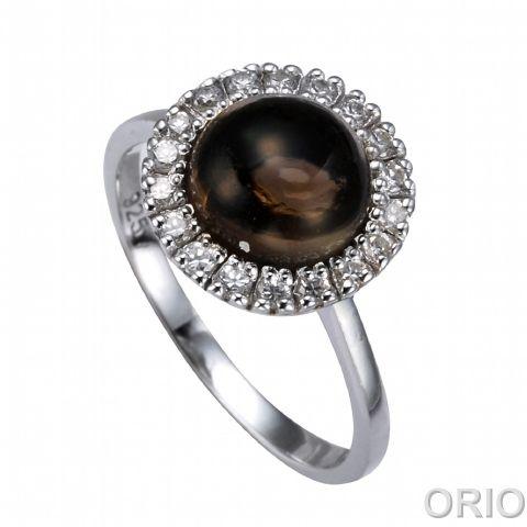 Серебряное кольцо Коралл и Фианит арт. 41100144 41100144