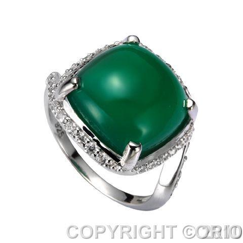 Серебряное кольцо Агат и Фианит арт. 41100105 41100105