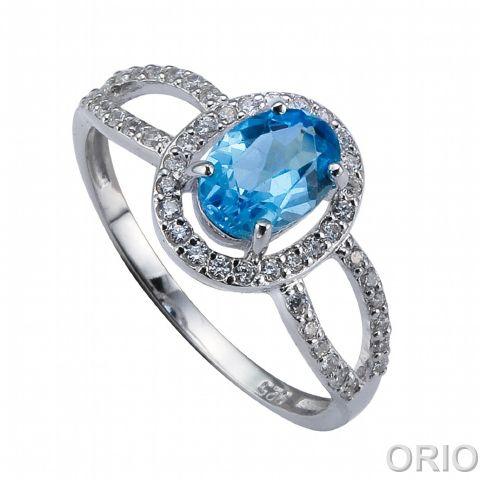 Серебряное кольцо Топаз и Фианит арт. 41100127 41100127