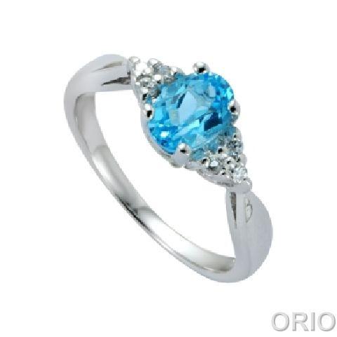 Серебряное кольцо Топаз и Фианит арт. 41100131 41100131