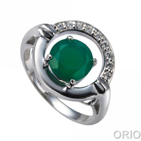 Серебряное кольцо Агат и Фианит арт. 41100132 41100132