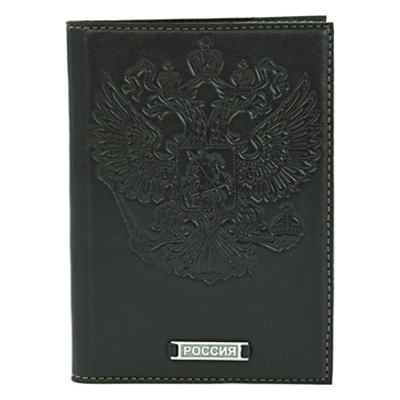 Обложка для паспорта с серебром 925 пробы арт. Россия Россия