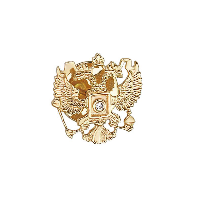 Значок из лимонного золота с цирконием арт. 01в130040 01в130040