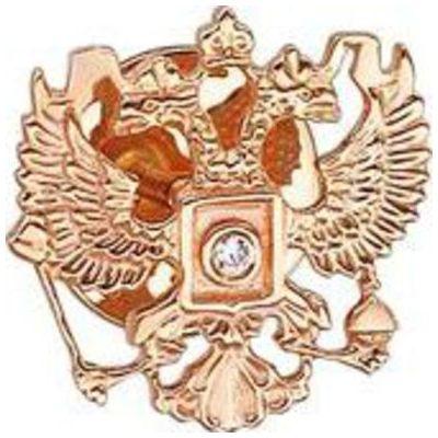 Золотой значок с цирконием арт. 01в110040 01в110040