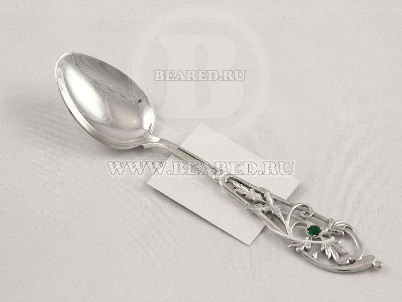 Чайная ложка из серебра с фианитом арт. б137 б137