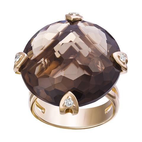 Золотое кольцо Бриллиант и Кварц арт. 1-02099 1-02099