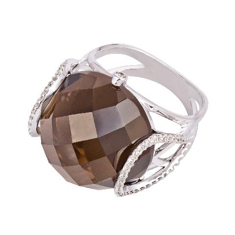Золотое кольцо Бриллиант и Кварц арт. 1-01577 1-01577