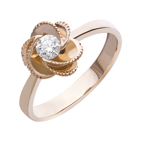 Кольцо из белого золота Бриллиант арт. 1-01545 1-01545