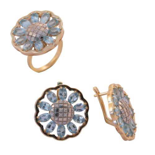 Серебряное кольцо Раухтопаз арт. 4к-768-04 4к-768-04