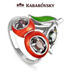 Серебряное кольцо Кристалл сваровски арт. 11-124 11-124