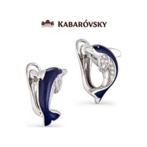 Серебряные серьги с кристаллом сваровски арт. 12-018 12-018