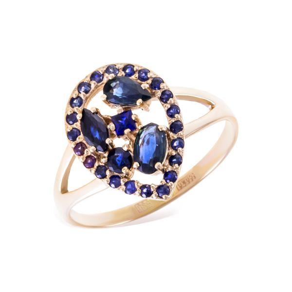 Серебряное кольцо Сапфир арт. 1502571 1502571