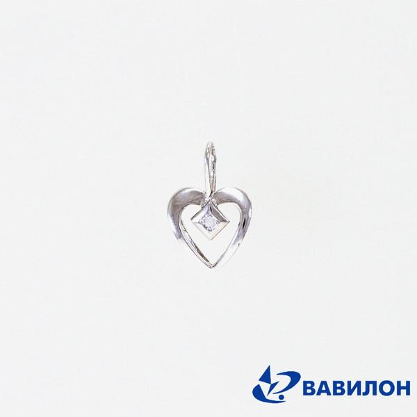 Серебряный подвес с фианитом арт. 3502127 3502127