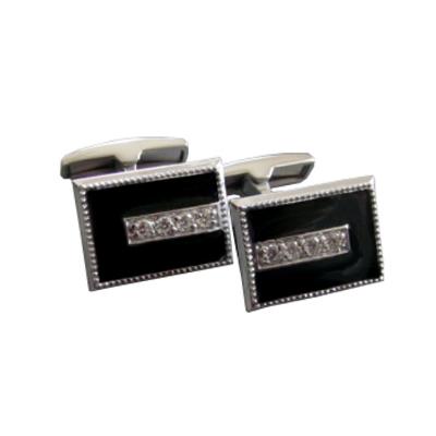 Серебряные запонки с эмалью арт. 141024 141024