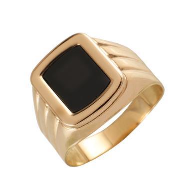 Золотая печатка с ониксом Оникс арт. 03-540092 03-540092