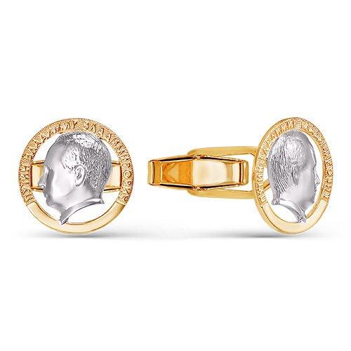 Золотые запонки арт. 660051 660051