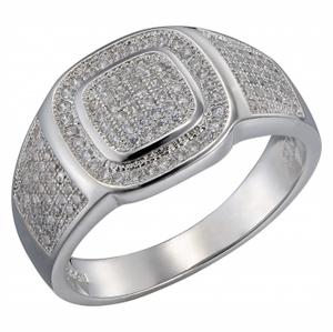 Серебряная печатка с цирконием Фианит арт. sb3r 107 sb3r 107