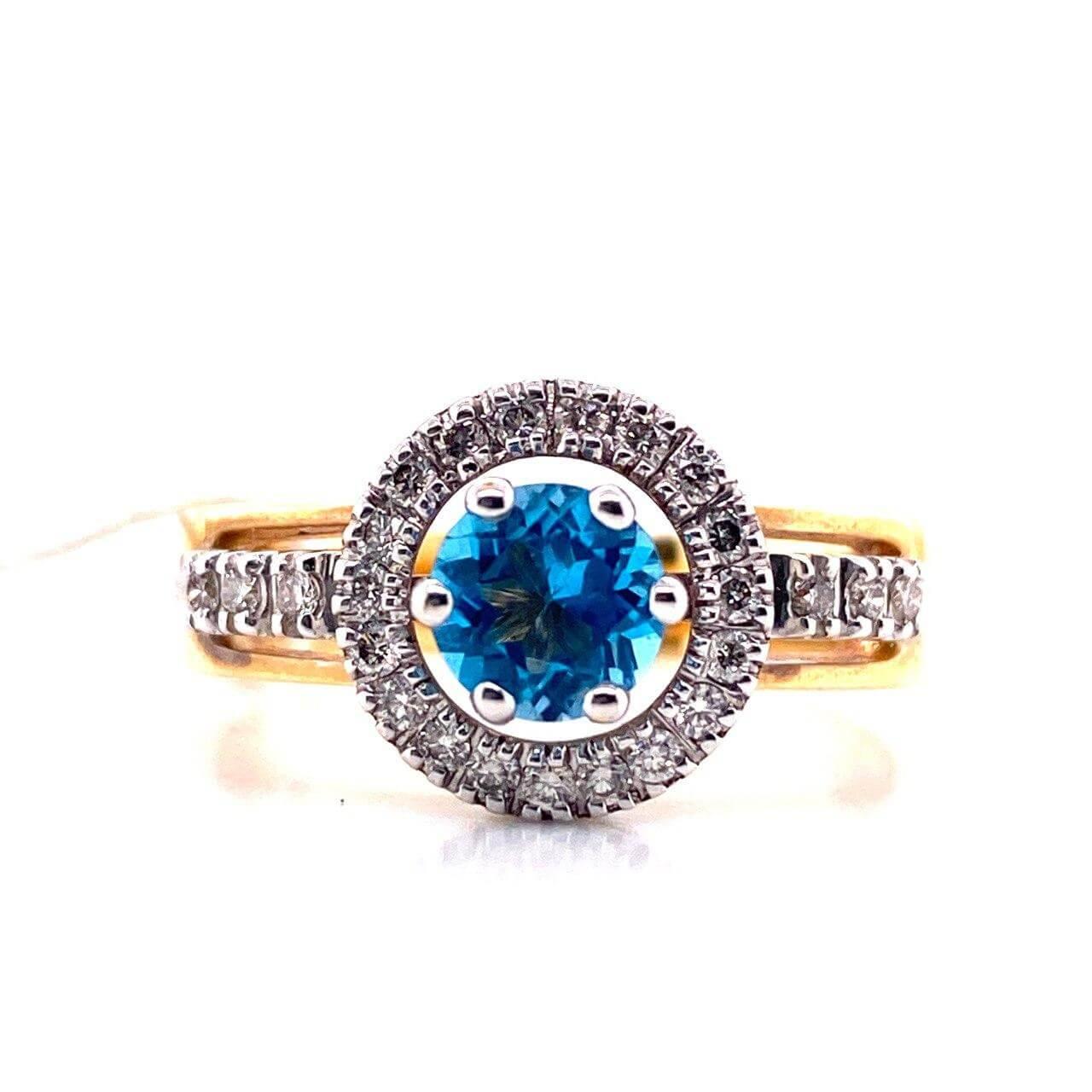 Кольцо из лимонного золота Бриллиант и Топаз арт. г6770 г6770