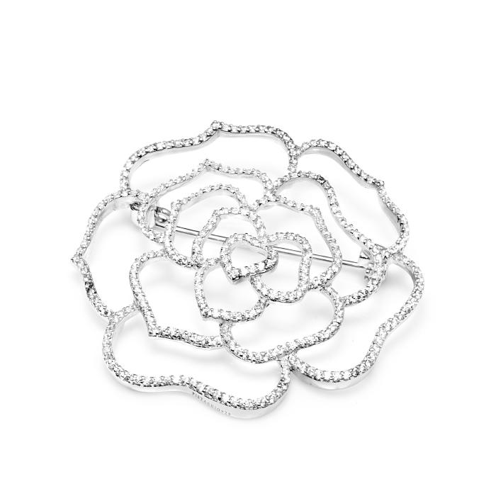 Серебряная брошь с цирконием арт. c900167 c900167