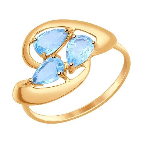 Золотое кольцо Топаз арт. 714626 714626