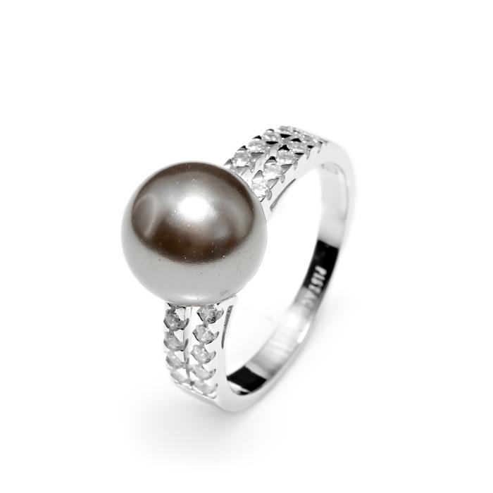 Серебряное кольцо Жемчуг и Фианит арт. r905874 r905874